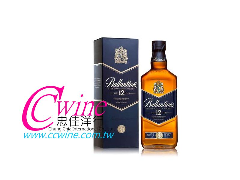 Ballantine's百齡罈12年金璽蘇格蘭調和威士忌<font color=&quot;red&quot;>