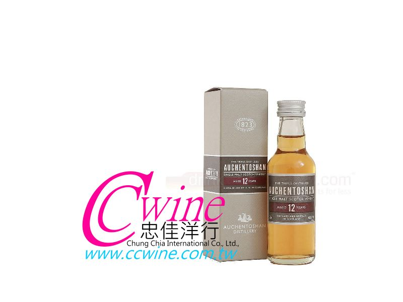 Auchentoshan歐肯特軒12年單一純麥威士忌迷你酒<font color=&quot;red&quot;>